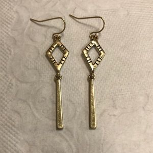 The Sak dangling gold tone earrings! Brand-new!